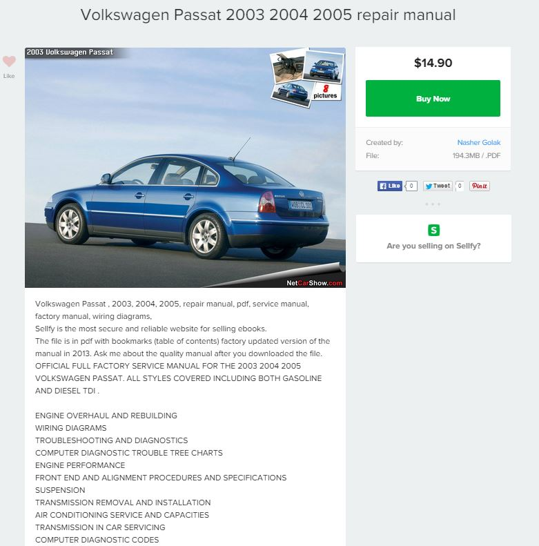 volkswagen passat 2003 2004 2005 repair manual repair manual. Black Bedroom Furniture Sets. Home Design Ideas
